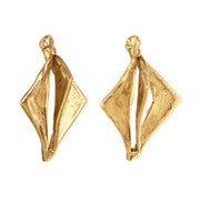 Natural Hedron Earrings