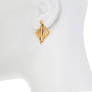 Natural Hedron Earring