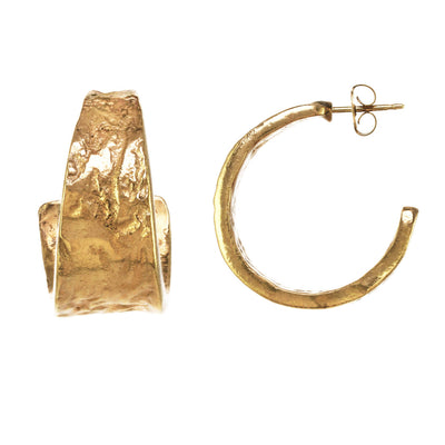 Natural Open Hoop Earrings