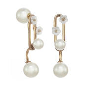Modern Balanced Pearl Earrings
