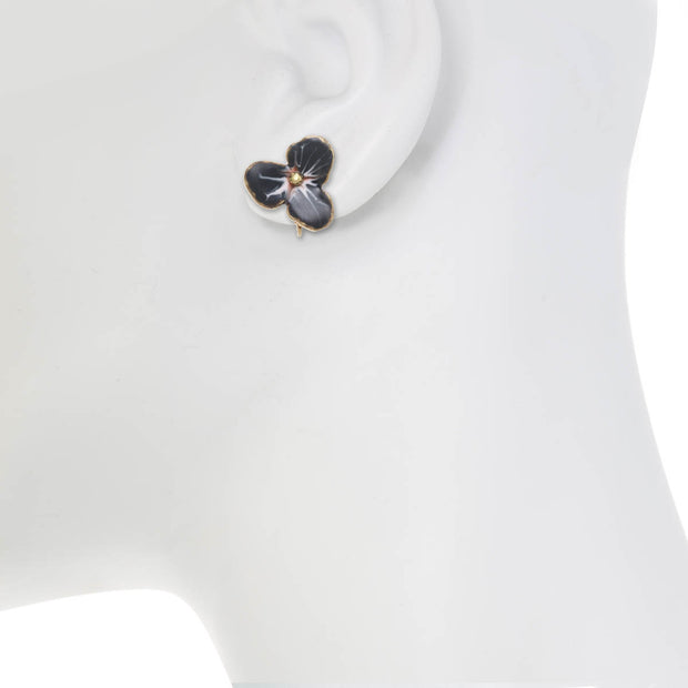 Midnight Small Flower Earrings