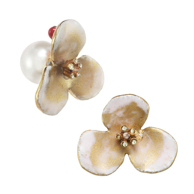 Matte Large Flower Earrings