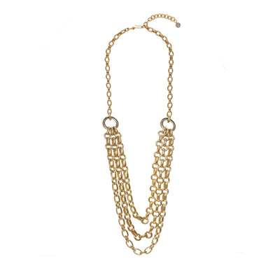 Graduated Oval Link Statement Necklace