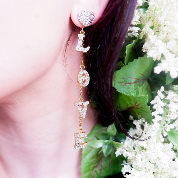 LOVE Dangle Drop Earrings