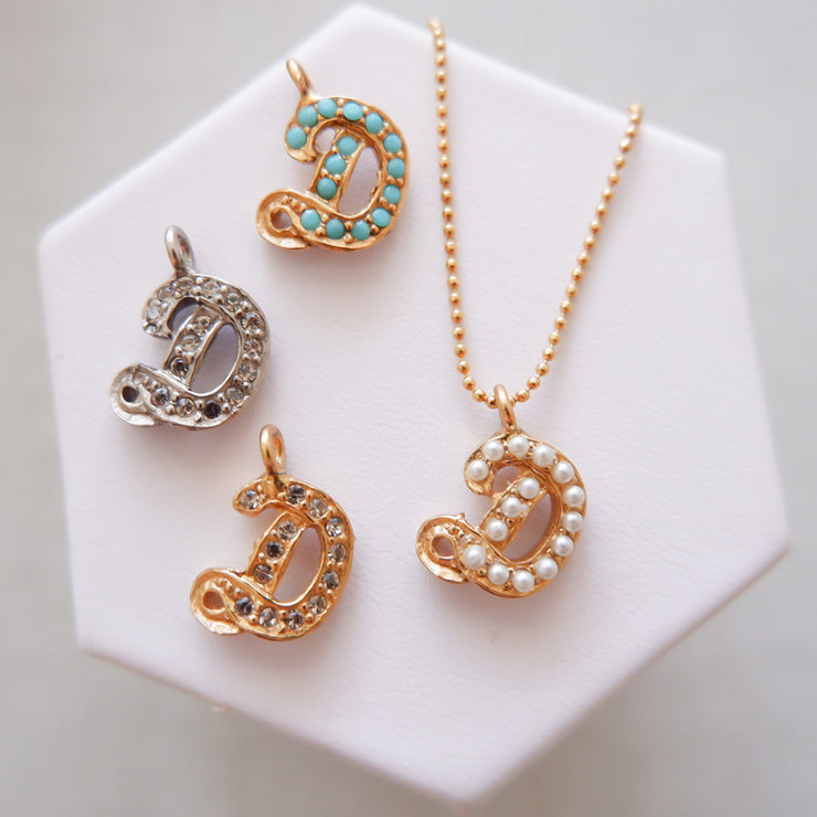 """D"" Alphabet Charm Necklace"