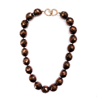Vintage Bronze Bead Necklace