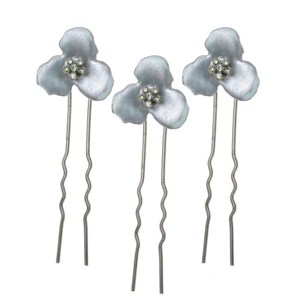 Three Piece Floral Hair Pin Set