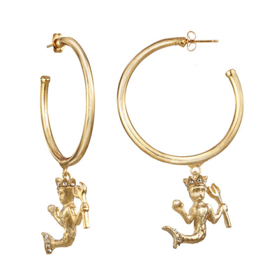 Aquarius Large Hoop Earring