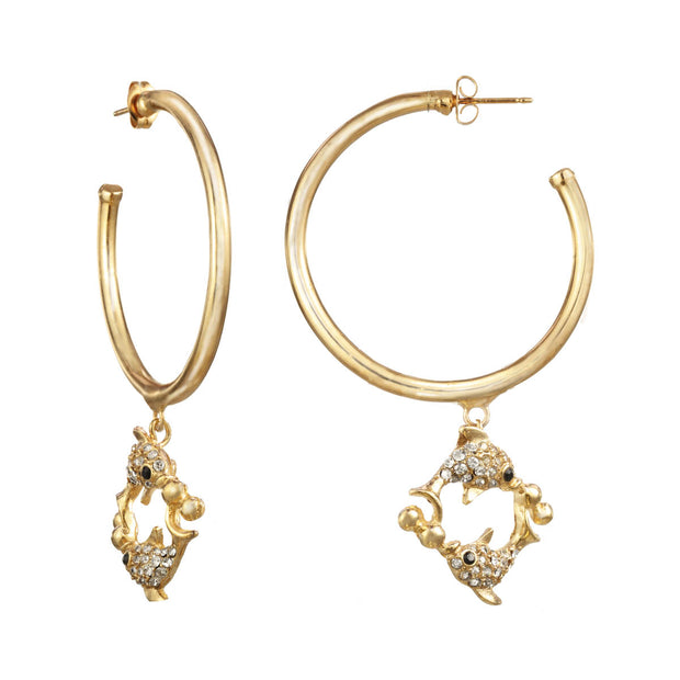 Pisces Large Hoop Earring