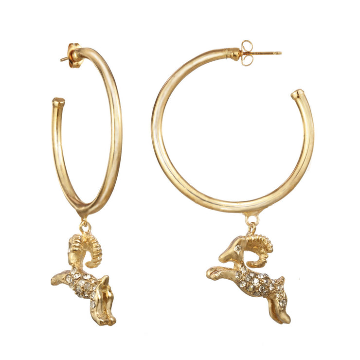 Aries Large Hoop Earring