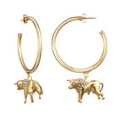 Taurus Large Hoop Earring