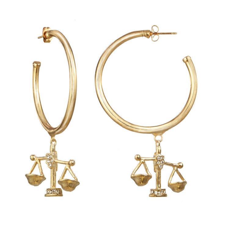 Libra Large Hoop Earring