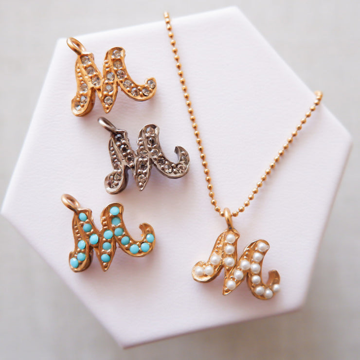 """M"" Alphabet Charm Necklace"