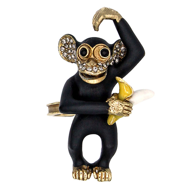 Patch x CINER Monkey with Banana Ring