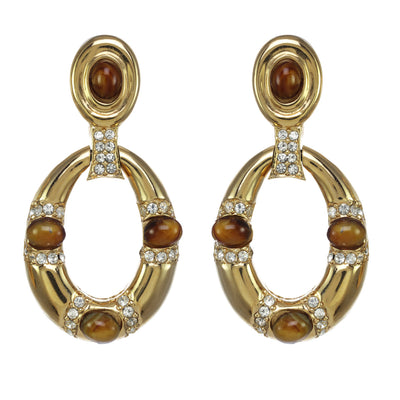 Oval Door Knocker Earrings