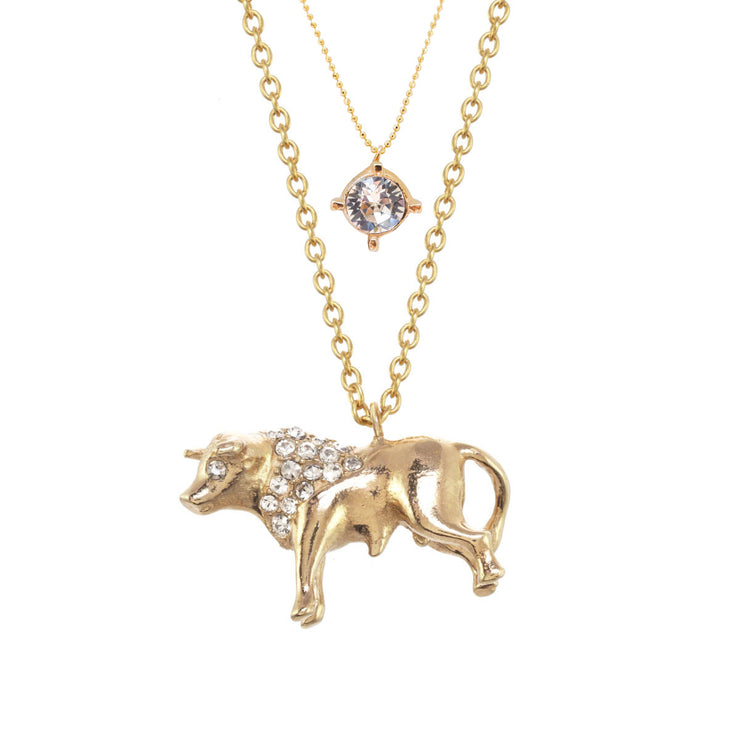 Taurus Birthstone Charm Necklace