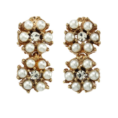 The Double Pearl Cluster Earring