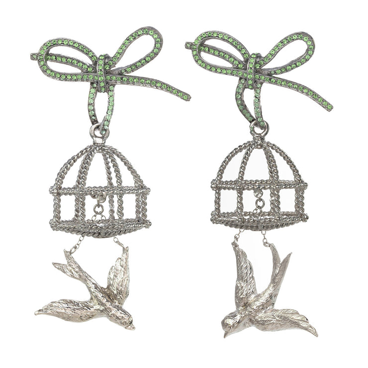 Escaping Bird Earrings