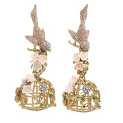 The Flocking Bird Cage Earring