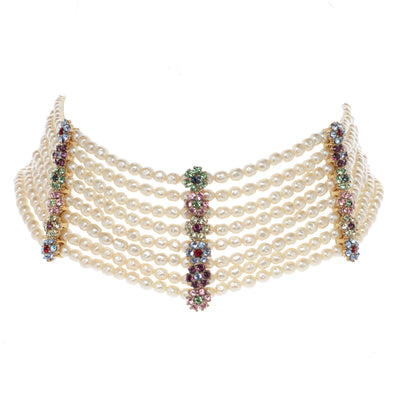 The Floral Pearl Choker Necklace