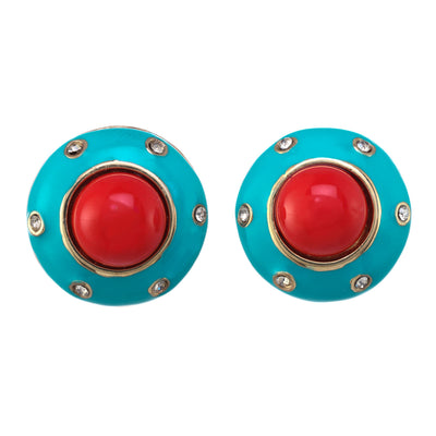 Motley Button Earring