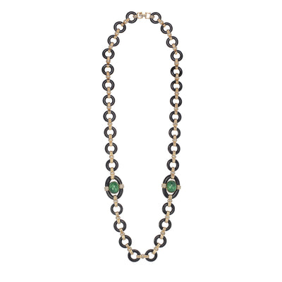The Ornate Jet Glass Necklace