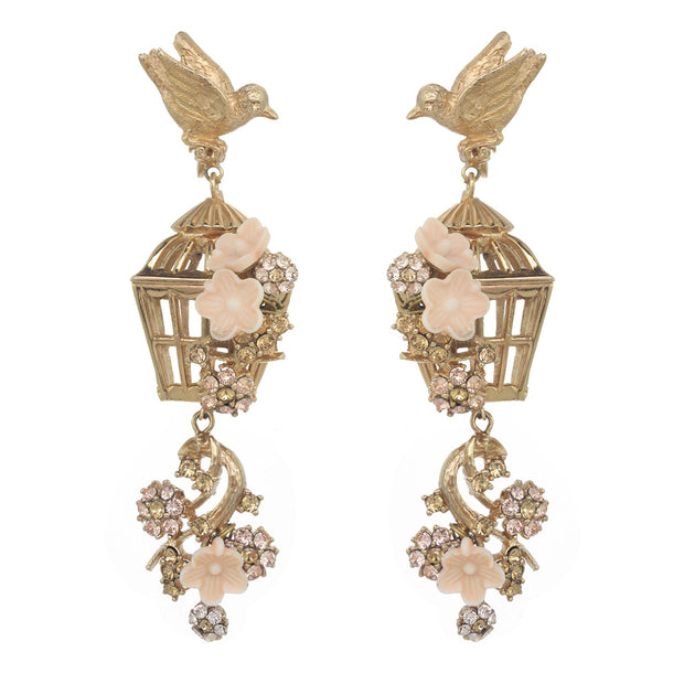 Romantic Bird Cage Earring