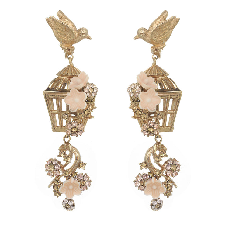 Romantic Bird Cage Earrings