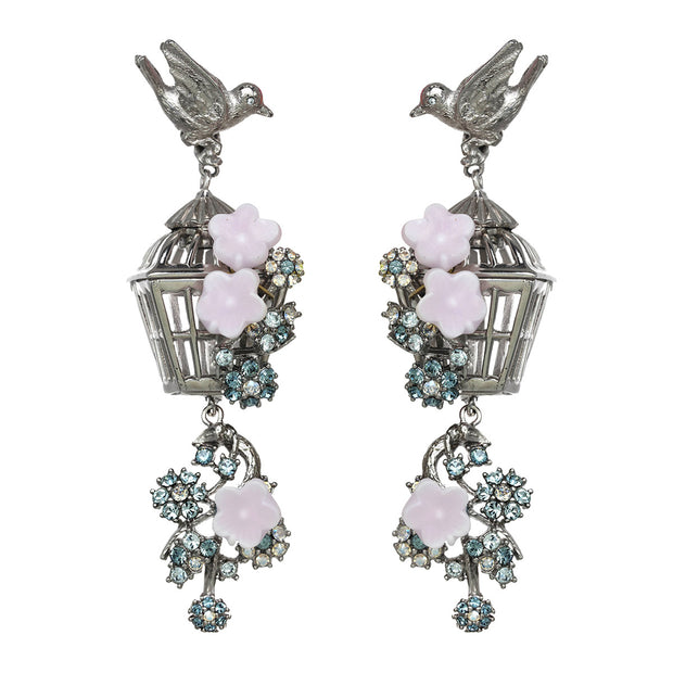 The Romantic Bird Cage Earring
