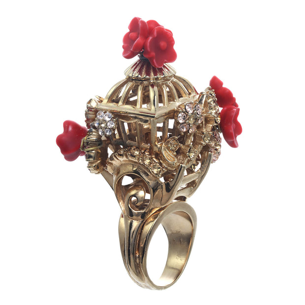The Romantic Bird Cage Ring