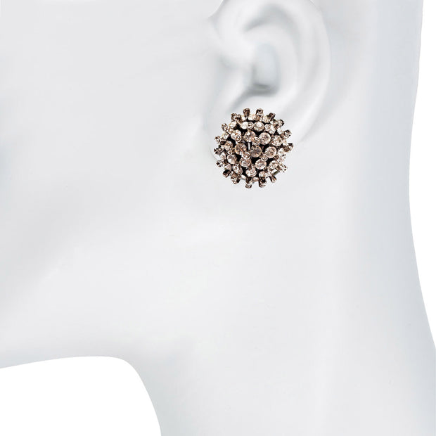 Crystal Sputnik Button Earring