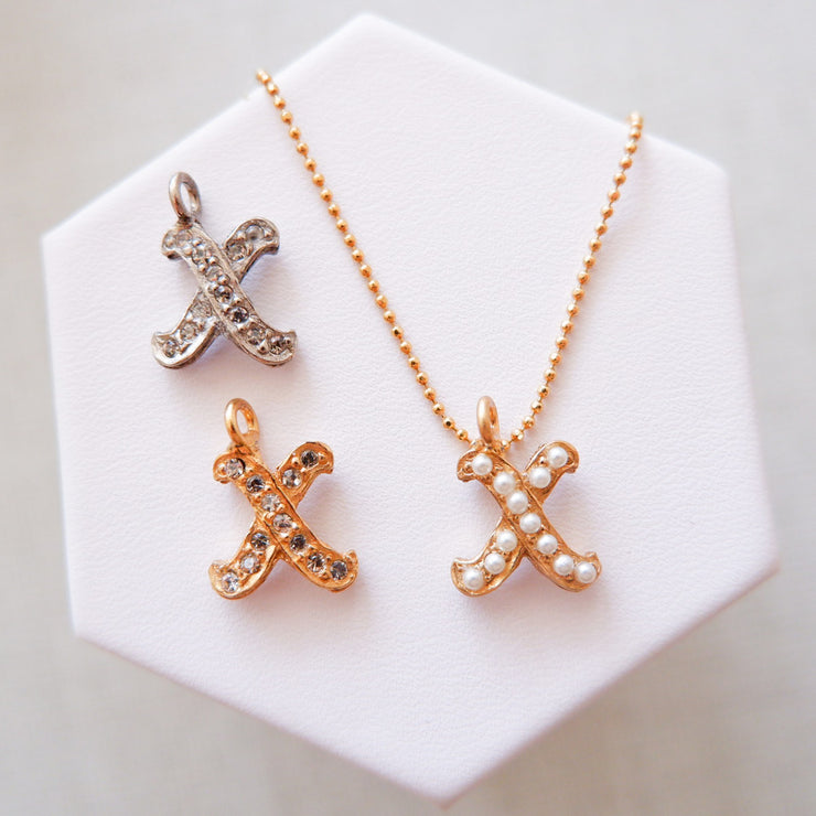 """X"" Alphabet Charm Necklace"