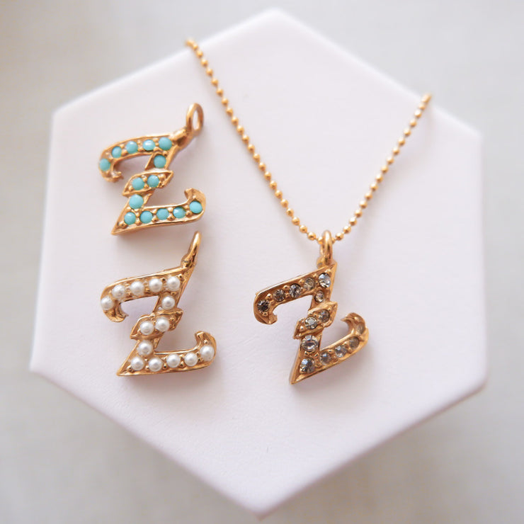 """Z"" Alphabet Charm Necklace"