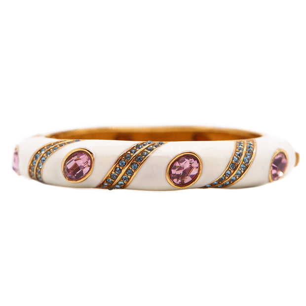 Enamel and Rhinetone Encrusted Bangle