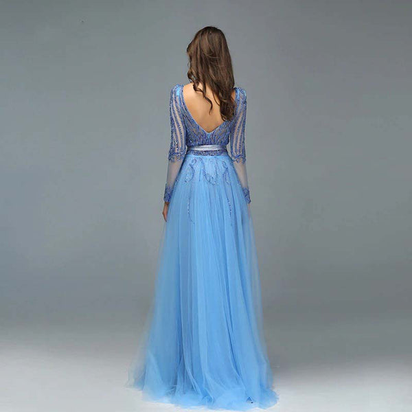 BEADING SEQUINED SPARKLE MERMAID EVENING GOWN