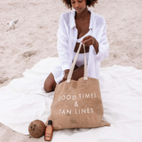 Jute Beach Tote Bag