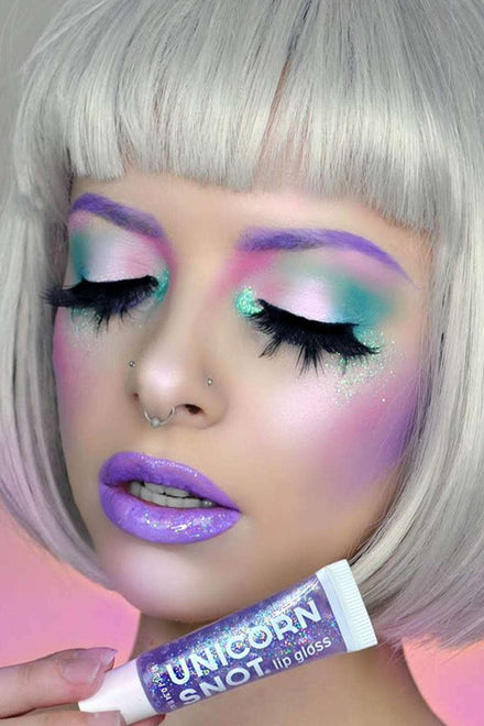 Unicorn Snot Purple Holographic Glitter Lip Gloss
