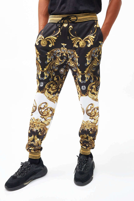Jewel Baroque Jogger With Metallic Rib