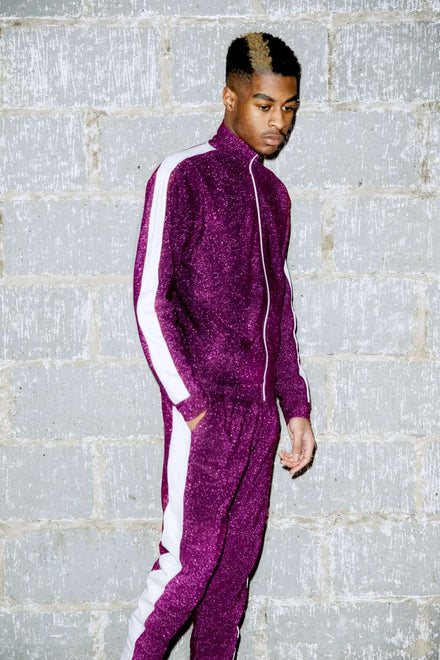 Purple Metallic Tracktop With Panels