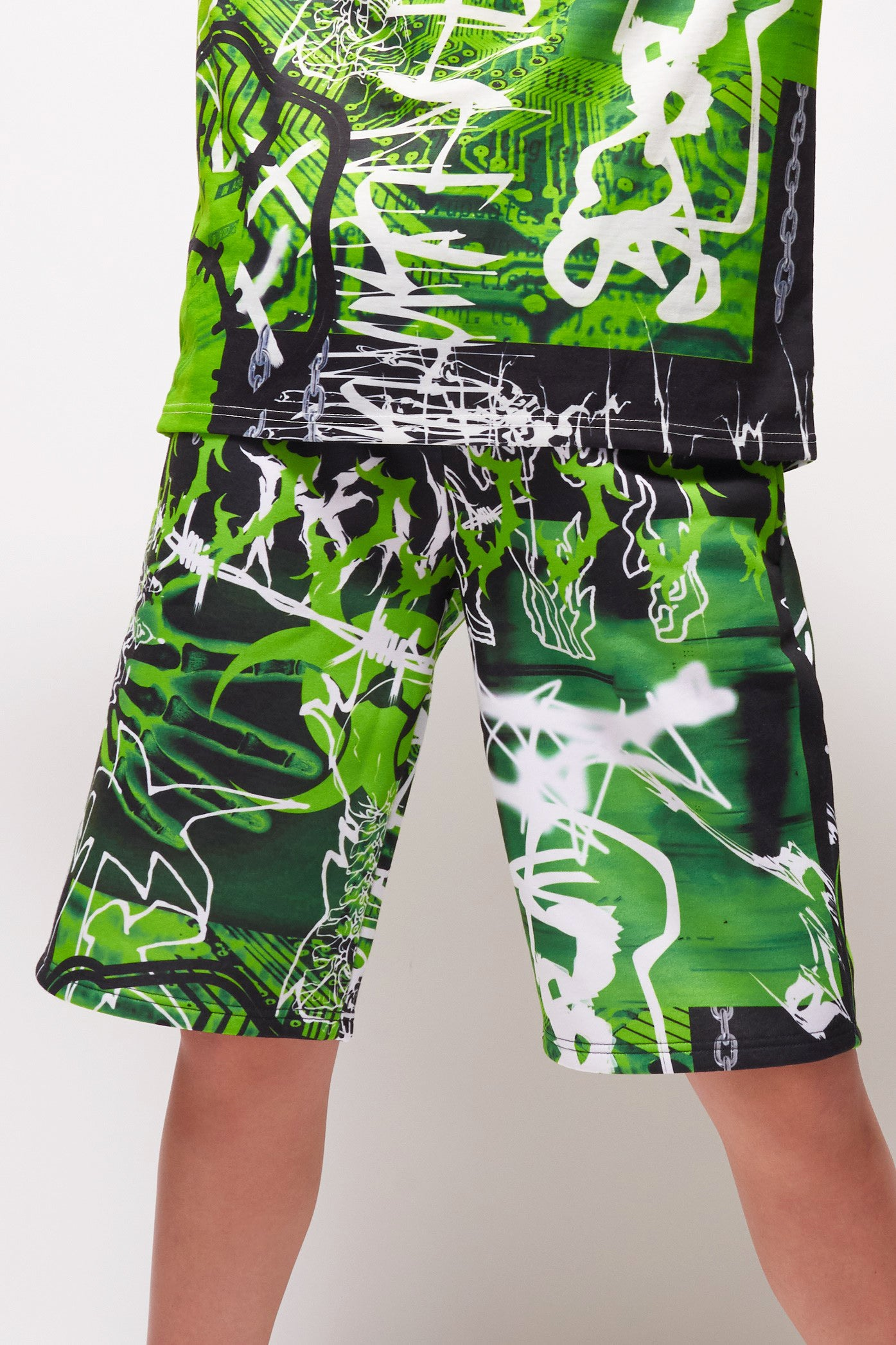 Parallel Trippy Acid Oversized Shorts