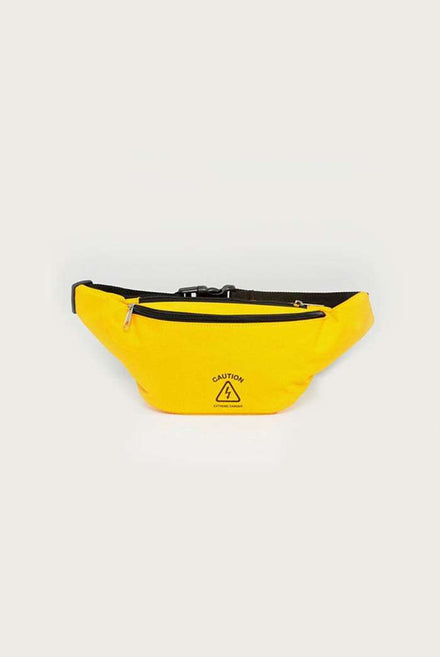 Granted Yellow Bumbag With Caution Sign