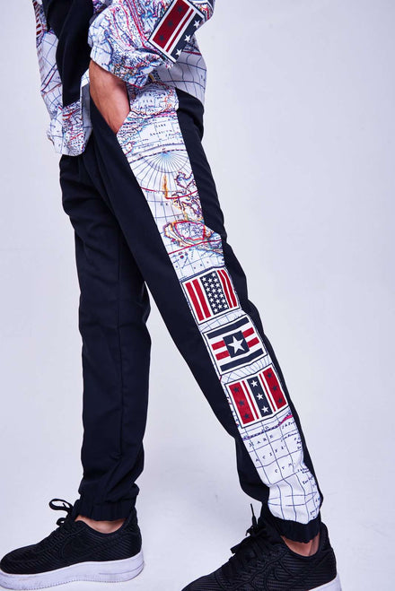 Map Print Joggers