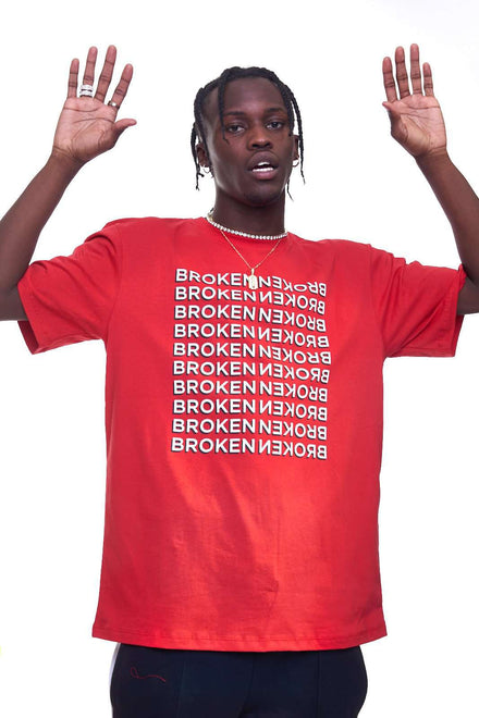 Granted Red Broken Tee