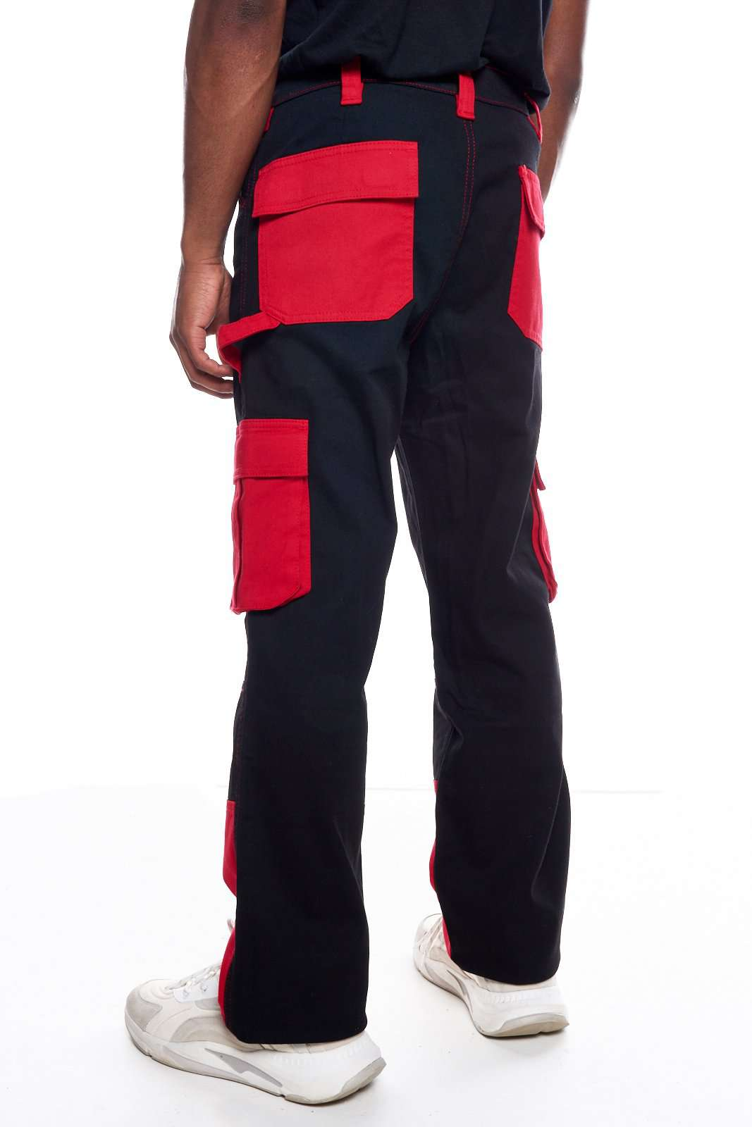 Granted Black & Red Cargo Pant