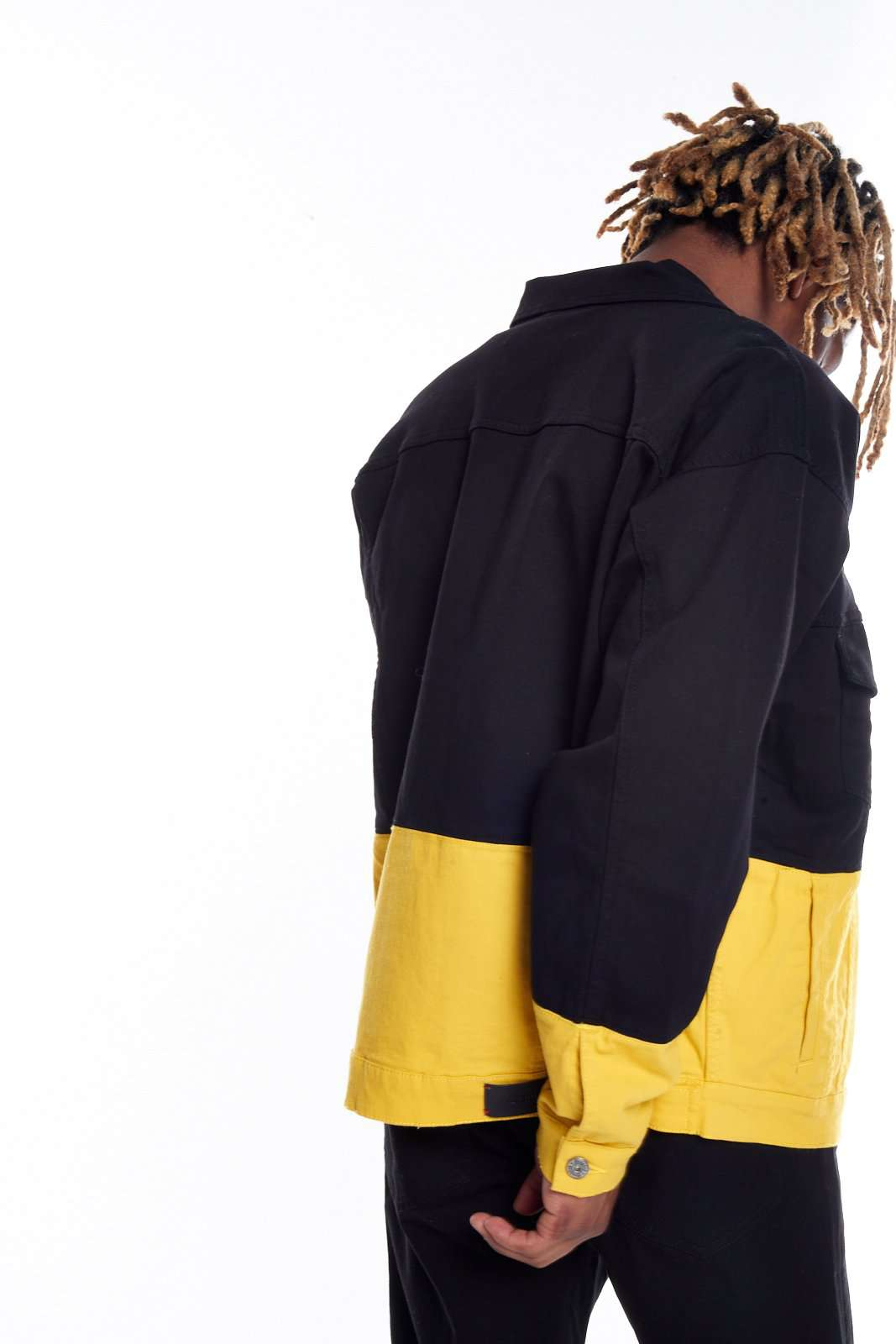Granted Black & Yellow Contrast Denim Jacket