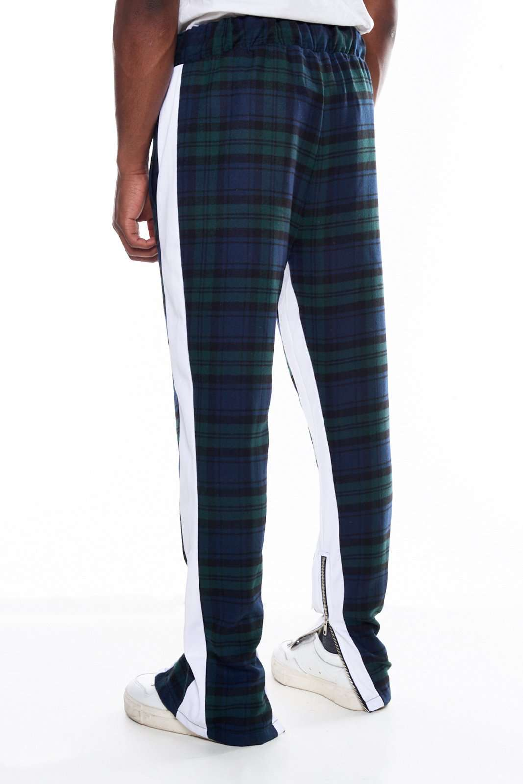 Granted Green Check Print Panel Joggers