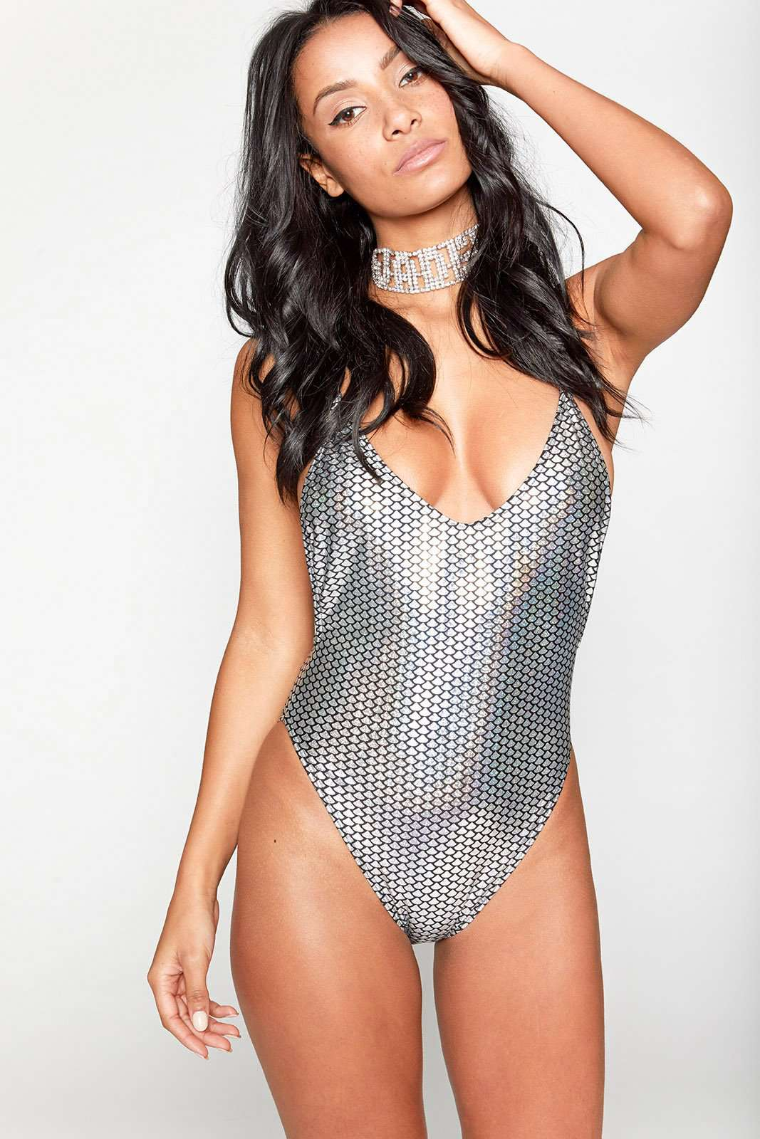 Mermaid Hologram High Leg Cami Swimsuit