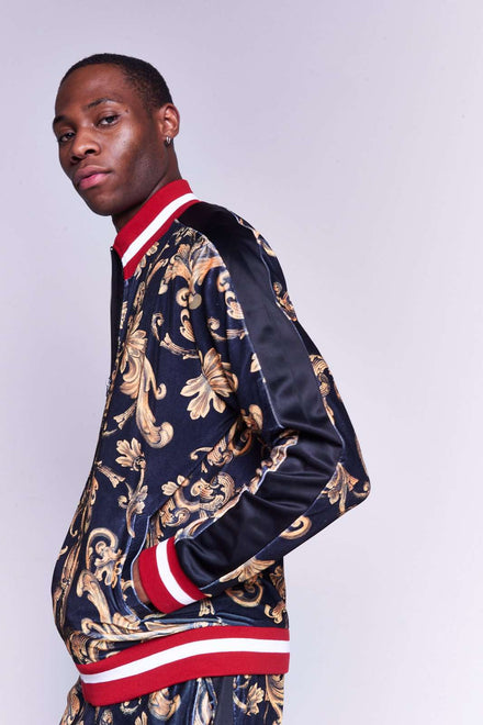 Black & Gold Baroque Tracktop