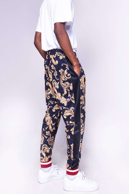 Black & Gold Baroque Joggers