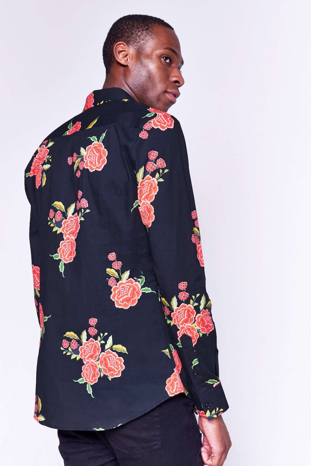Black Rose Long Sleeved Shirt